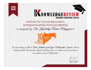 """Recognized amongst """"The Top 10 Best Institutes of the Year"""" (Maharashtra Special) – 2018"""