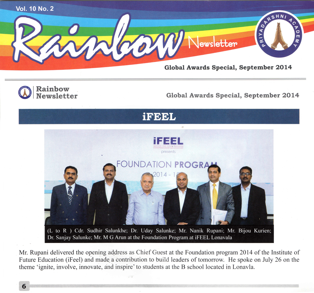 Rainbow Newsletter- Global Awards Special September 2014