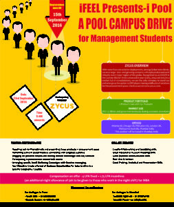 i POOL – A pool campus drive by Zycus Infotech at iFEEL campus