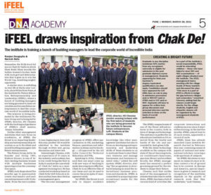 iFEEL draws inspiration from Chak De DNA Coverage