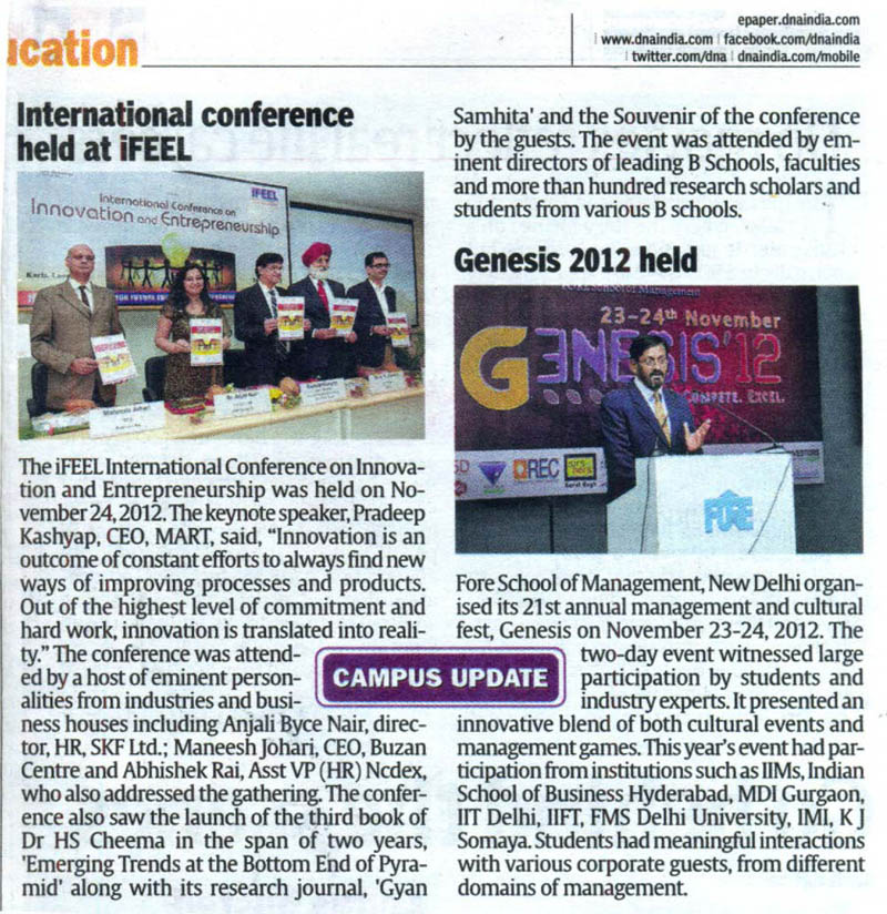 International Conference held at iFeel